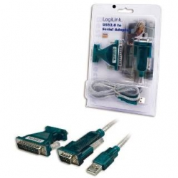LOGILINK UA0042A Adapter USB 2.0 do serial 9+25 pin z kablem 1,2m